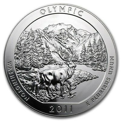 2011 Olympic 5 oz Silver America The Beautiful ATB Coin in Capsule