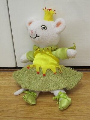 "Angelina Ballerina 8"" Soft Toy White Mouse Ballet"