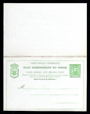 14683-etat independant du CONGO-OLD UNUSED POSTCARD 5 Ctmes.UPU.Carte postale