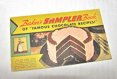 1936 Baker's Sampler Book of Famous Chocolate Recipes