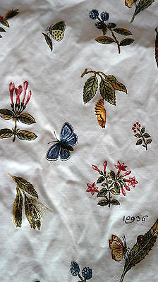 SHOWER CURTAIN Butterfly Leaf Flower Motif
