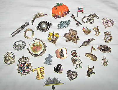 Junk Drawer Lot - Costume Jewelry Pins