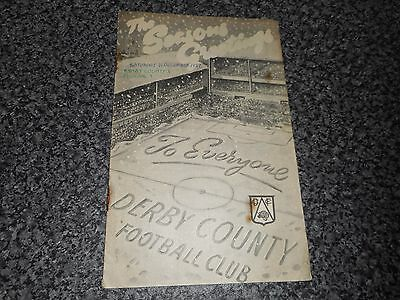 DERBY COUNTY  v  FULHAM  1957/8  ~ DEC 21st  CHRISTMAS COVER *****FREE POST*****
