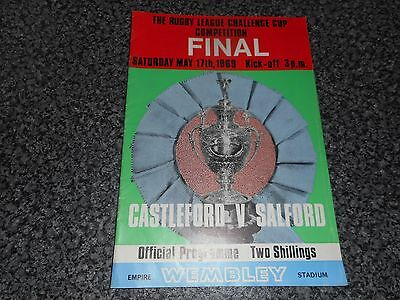 RUGBY LEAGUE CUP FINAL PROGRAMME : CASTLEFORD  v  SALFORD 1969 @ WEMBLEY