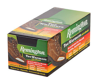 40 Pairs Remington TOE Warmers with Adhesive IRIS TOE Warmers Hunting Camping