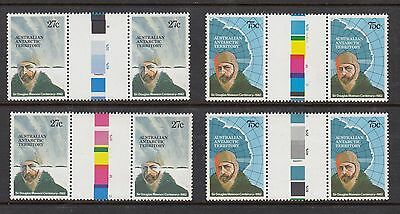 AUSTRALIAN ANTARCTIC 1982 MAWSON, 2 SETS OF GUTTER PAIRS, Mint Never Hinged
