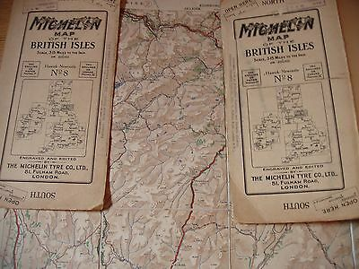 Northumberland, Cumberland & Border: A Rare Very Early Motor Map,michelin 1920