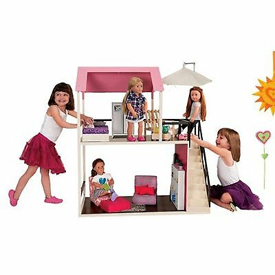 "Our Generation Home Suite Home Wooden Doll House For 18"" Dolls American Girl"