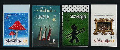 Slovenia new Issue Booklet stamps MNH Christmas, Mushroom, Chimney Sweep, Crib