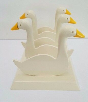 Vintage Plastic Duck Serviette / Napkin Stand - Stacking Measuring Cups Style