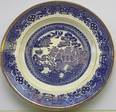 Alfred Meakin Old Willow 20cm Side Plate - Gold Rim