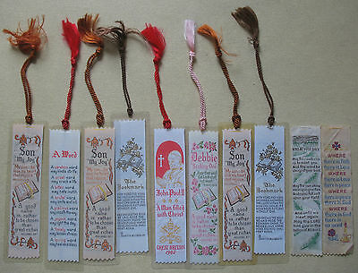 Job Lot 10 x Woven Bookmarks - Assorted
