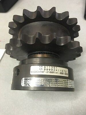 "Nexen 911391 5H20C 60dbl Sprocket 19teeth 1"" .625 Pneumatic Clutch Air Free Ship"