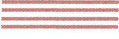 4 x red / white checks 90mm x 2.5mm decals also code 3 models