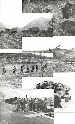 Set Modern Postcards British Army in Korea 1951 - National Army Museum 1988 Set