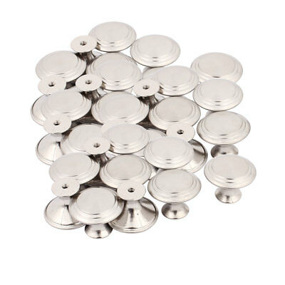 Household Closet Chest Stainless Steel Single Hole Pull Knobs 27.5mmx22mm 50pcs