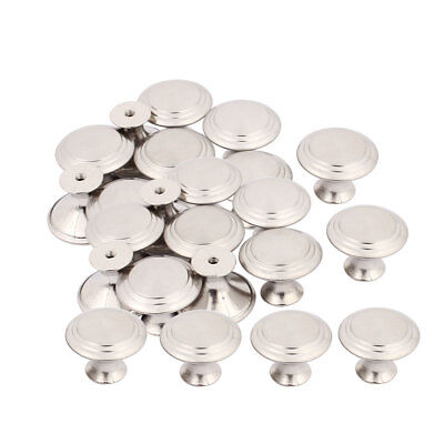 Household Closet Chest Stainless Steel Single Hole Pull Knobs 27.5mmx22mm 25pcs