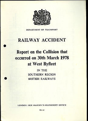 HMSO Railway Accident Report WEST BYFLEET 30th March 1978