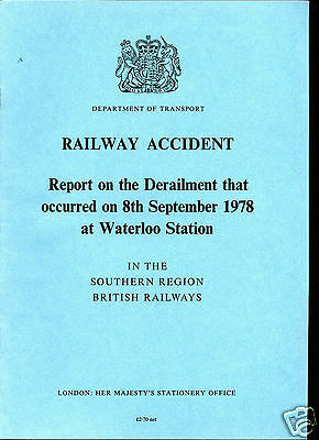 HMSO Railway Accident Report WATERLOO STATION 8th September 1978