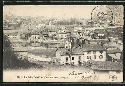remarquable CPA Limoges, Vue panoramique 1903