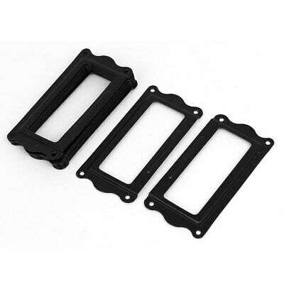 Office File Drawer Iron Label Tag Name Card Holders Black 64x31x2mm 8pcs