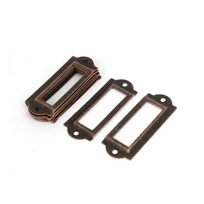 Office Apothecary Drawer Label Tag Card Holders Copper Tone 60x24x1.5mm 10pcs