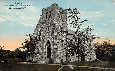 B87/ Ogdensburg New York NY Postcard c1910 St Lawrence State Hospital Chapel 1