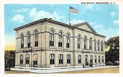 B87/ Ogdensburg New York NY Postcard c1910 Post Office Building 2