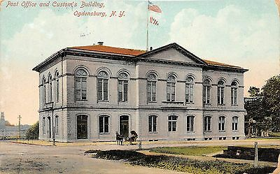 B87/ Ogdensburg New York NY Postcard 1915 Post Ofice Customs Building
