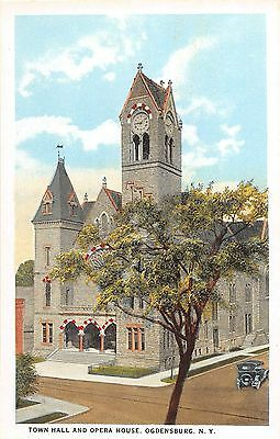 B87/ Ogdensburg New York NY Postcard c1910 Town Hall and Opera House 1