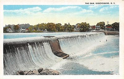 B87/ Ogdensburg New York NY Postcard c1910 The Dam Swimmers