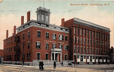 B87/ Ogdensburg New York NY Postcard 1910 Seymour House Hotel Building 1