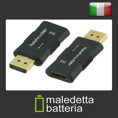 Adattatore DP DisplayPort maschio > HDMI A femmina (Display Port - HDMI Tipo A)