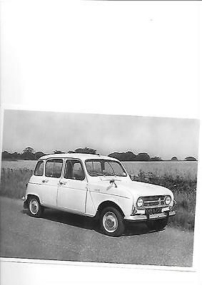 RENAULT 4 PRESS PHOTO 'G' REGISTERED 'Brochure Related'