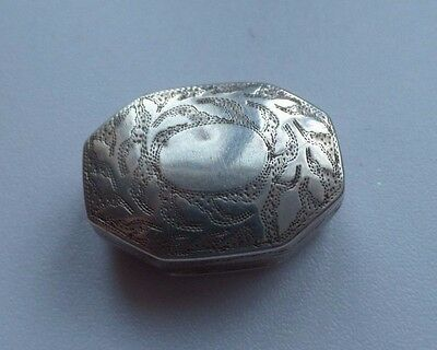 Antique Solid Silver Vinaigrette 1813 Joseph Willmore