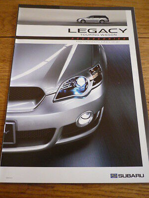 Unusual Subaru Legacy Touring Wagon Accessories Brochure