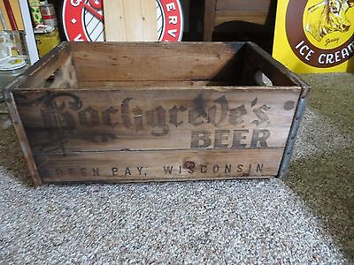 Hochgreve's beer wood crate box Green Bay Wis pre pro antique brewery crate