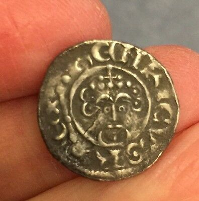 King John (1199-1216). Silver Penny. Lincoln Mint.  Repaired.