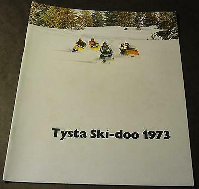 1973 Ski-Doo Full Line Snowmobile Sales Brochure 20 Pages Swedish Or Finish?