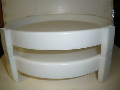 Tupperware ~ Vintage Divide A Rack Pie Stackers ~ Set Of 2 ~ White-Vguc