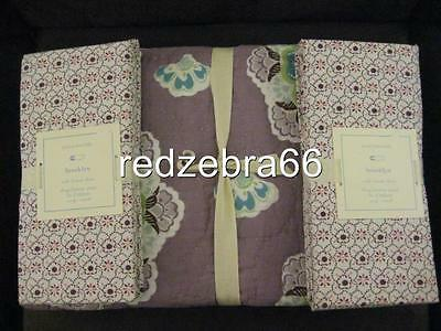 Pottery Barn Kids Brooklyn Toddler Crib Quilt 2 Fitted Sheets Lavender NWT 3-pc