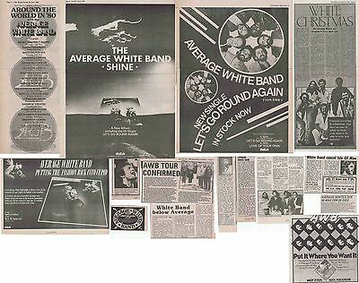 AVERAGE WHITE BAND : CUTTINGS COLLECTION -adverts interview-