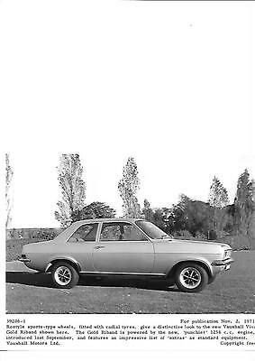 Original Vauxhall Viva Gold Riband Press Photo  'brochure Related'  1971 1972