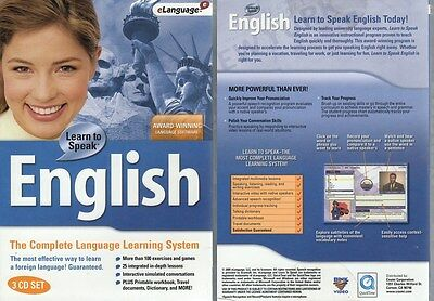Learn to Speak English 9.5 (3PC-CDs) Win98-XP -NEW in BOX