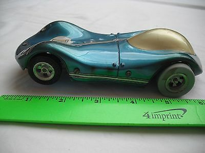 Vintage Race Slot Car, Blue Metalic Hot Rod 78, Classic Metal Frame, 1/24 Scale