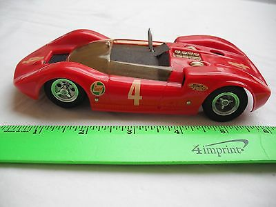 Vintage Race Slot Car, Red Maroon Can-AM Hot Rod 4, Dynamic Chassis, 1/24 Scale