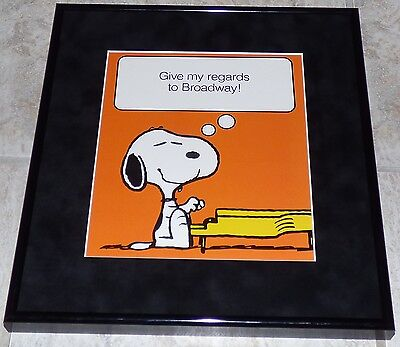 Peanuts Snoopy My Regards To Broadway Framed Vintage Poster Print Schulz Piano