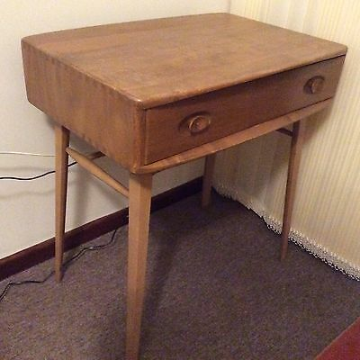 Vintage Ercol Ladies Table Desk With Drawer For Refurbishment