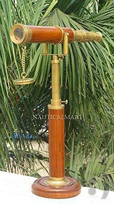 Royal Nautical Vintage Griffith Table Decor Brass Finish Telescope