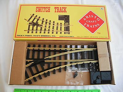 Aristo Craft Trains ART-30350 Left Hand LH Manual Switch Track, #1 G Scale